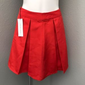 🌸 NWT Collective concepts red pleated skirt